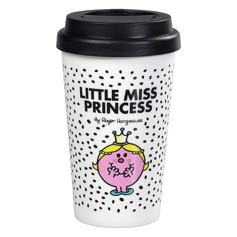 Little Miss – Double Wall Little Miss Princess Travel Mug 400ml with Silicone Lid