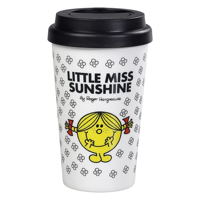 Little Miss – Double Wall Little Miss Sunshine Travel Mug 400ml with Silicone Lid