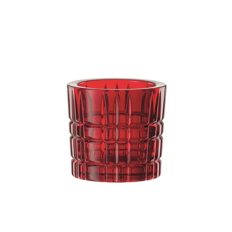 Nachtmann Crystal – Square Votive Red 6.6cm  (Made in Germany)