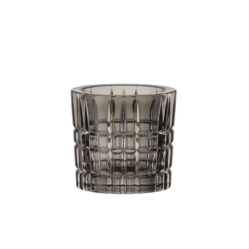 Nachtmann Crystal – Square Votive Smoke 6.6cm  (Made in Germany)