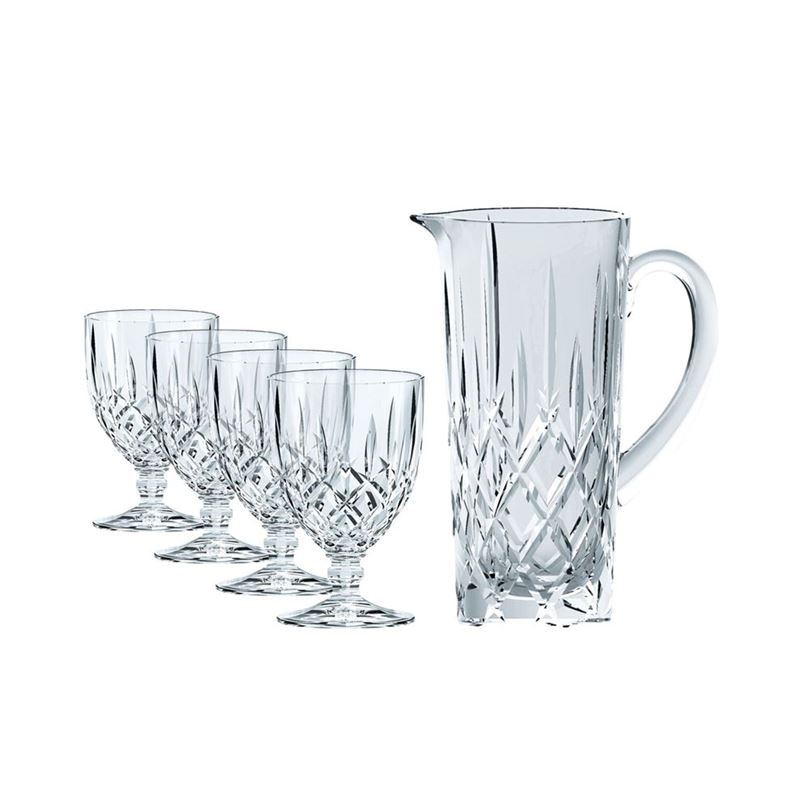 Nachtmann Crystal – Noblesse Pitcher 5pc Set (Made in Germany)