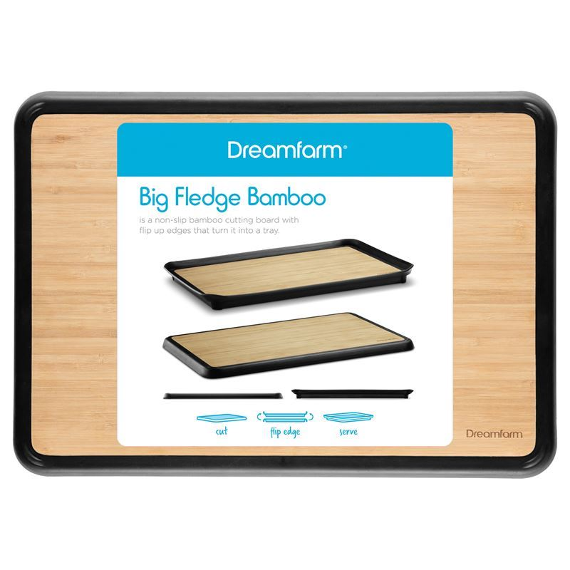 Dreamfarm – Big Fledge Bamboo Flip Edge Cutting Board 25×35.5cm