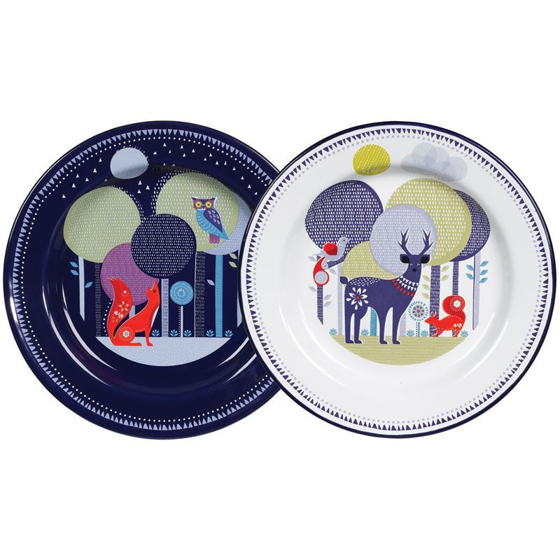 Folklore – Day & Night Enamel Plates Set of 2