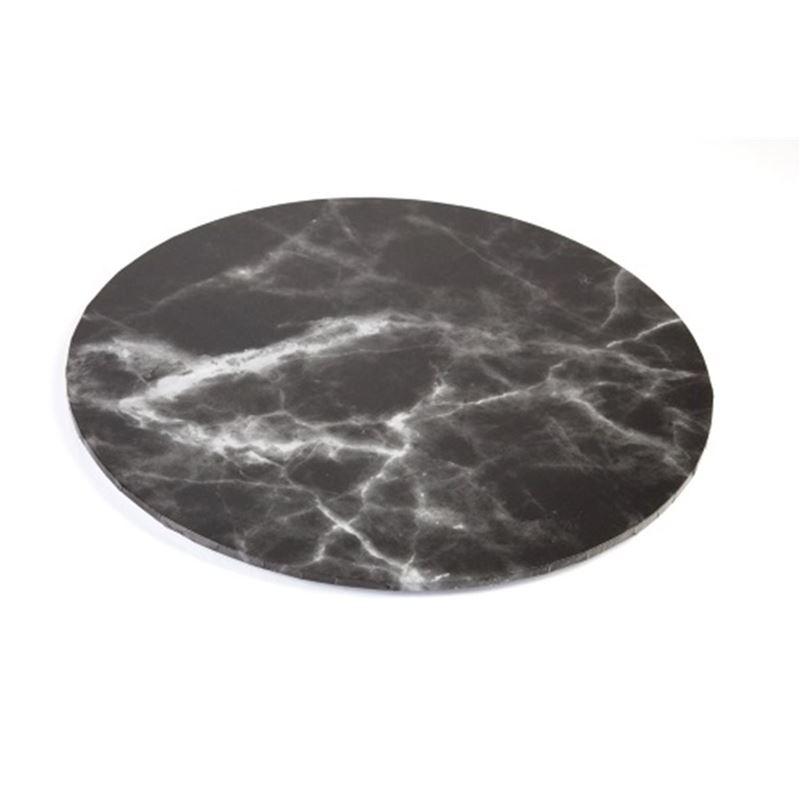 Mondo – Cake Board Round Black Marble 30cm