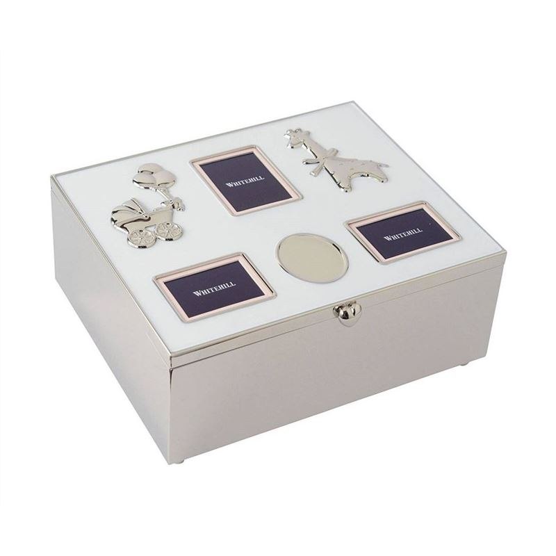 Whitehill – Silver Plated Baby Photo Box with Engraving Plaque 21x17x9cm