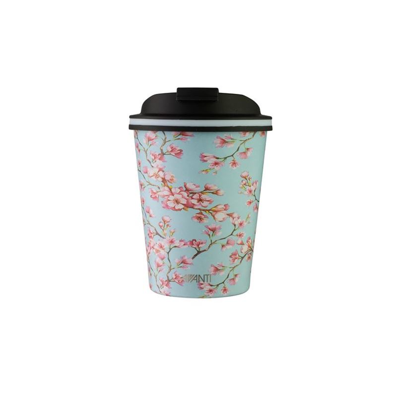 Avanti – GOCUP Double Wall Stainless Steel Coffee Cup 280ml Cherry Blossom