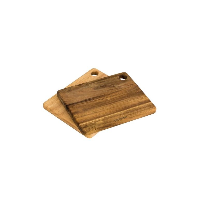 Peer Sorensen – Acacia & Rubberwood Chopping Board 19.5x15x1.5cm Set of 2