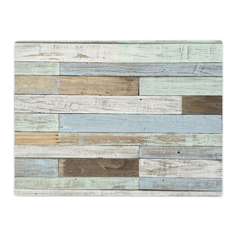 Avanti – Tempered Glass Surface Protector and Serving Board 40x30cm Coastal Deck