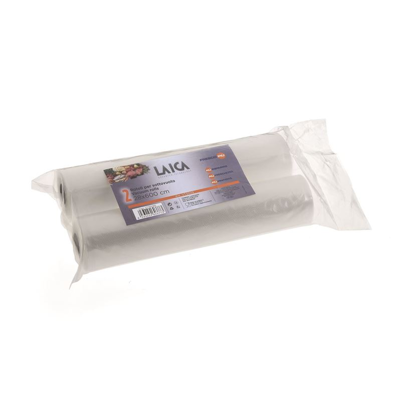 Laica – Vacuum Bag Rolls Set of 2 28cm x 6Mtrs