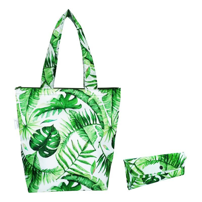 Sachi – Insulated Market Tote 27x38cm Jungle Leaf