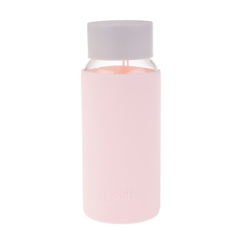 Oasis – Borosilicate Glass Water Bottle 500ml with Silicone Sleeve Pink