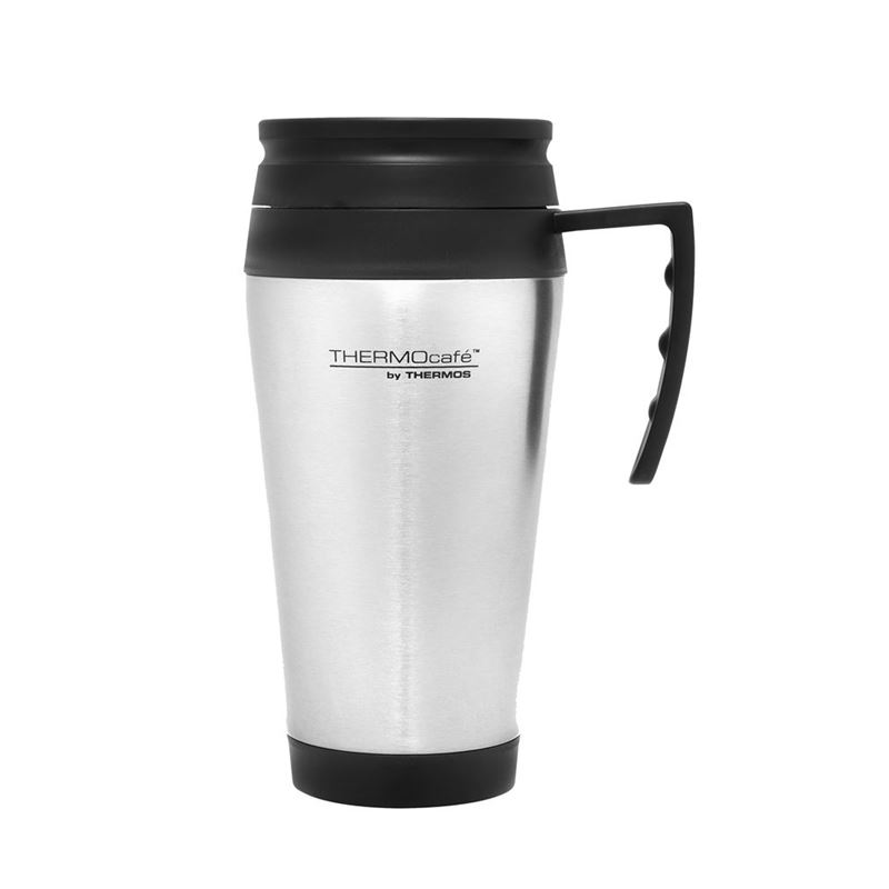 Thermos – Stainless Steel Foam Insulated Travel Mug with Handle 400ml