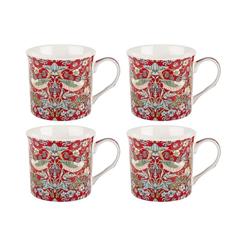Nostalgic Ceramics – Fine China Strawberry Thief Mug 270ml set of 4