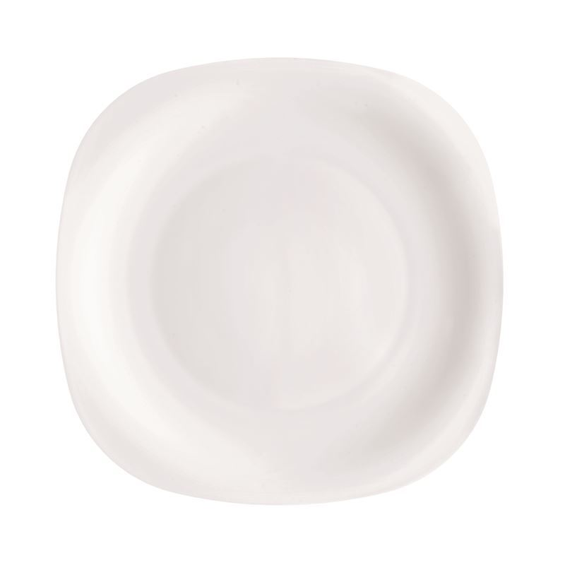 Bormioli Rocco Opal Toughened Glass Square Restaurant Plate 31cm (Made in Spain)