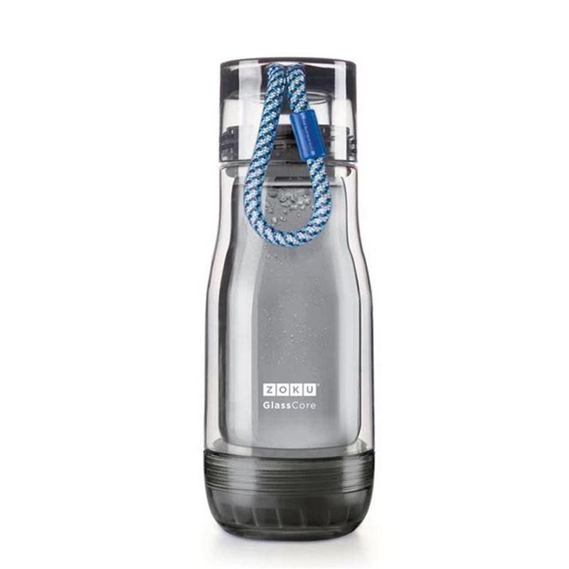 Zoku – Active Glass Core Bottle Blue 355ml