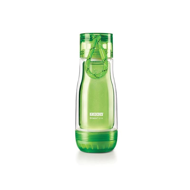 Zoku – Everyday Glass Core Bottle 355ml Green