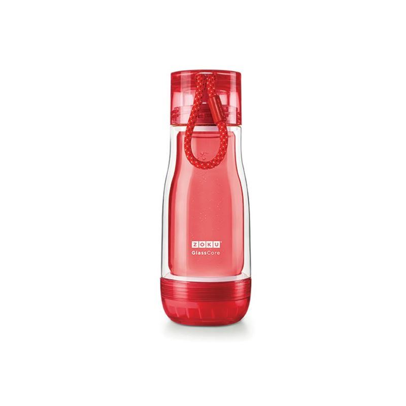 Zoku – Everyday Glass Core Bottle 355ml Red