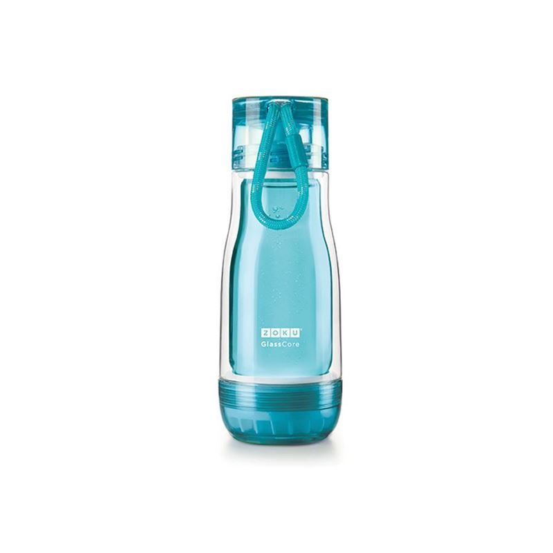 Zoku – Everyday Glass Core Bottle 355ml Teal