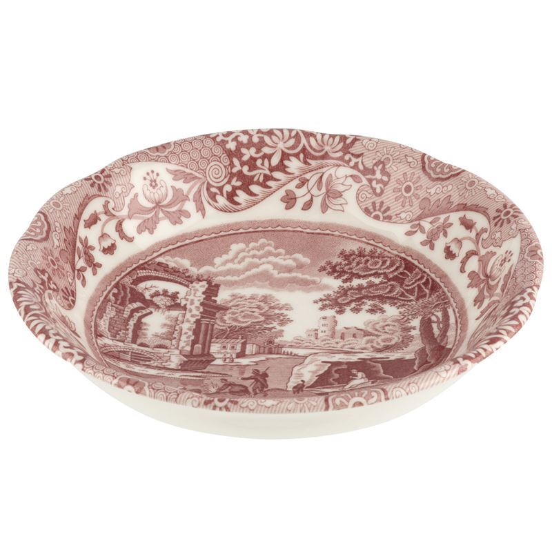 Spode – Cranberry Italian Oatmeal/Cereal Bowl 16cm (Made in England)