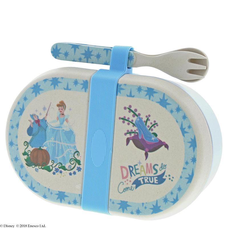 Disney – Cinderella Organic Bamboo Snack Box with Cutlery