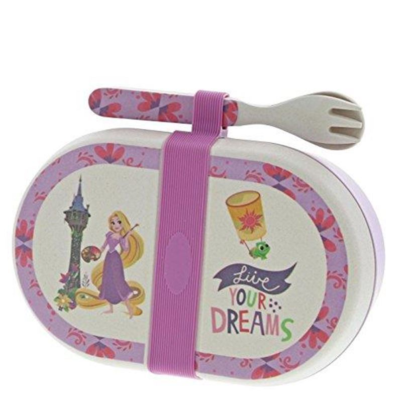 Disney – Rapunzel Organic Bamboo Snack Box with Cutlery