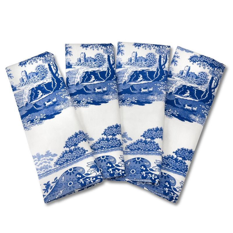 Spode by Pimpernel – Blue Italian Set of 4 Napkins 45x45cm