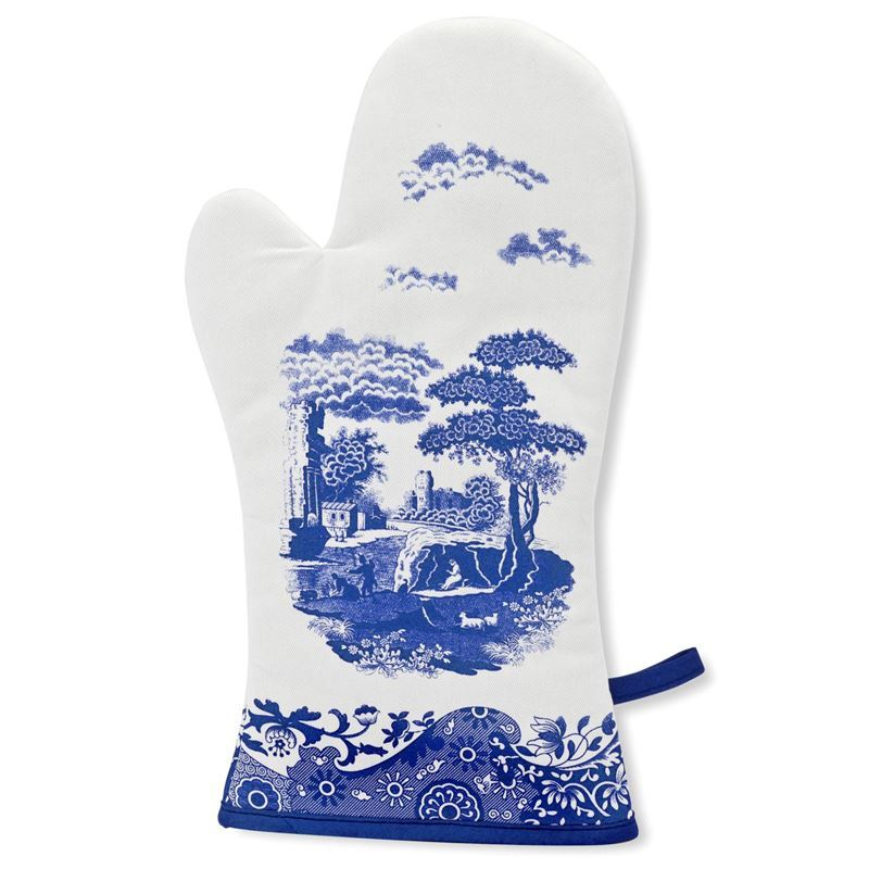 Spode by Pimpernel – Blue Italian Gauntlet Oven Glove 36.5×19.5cm