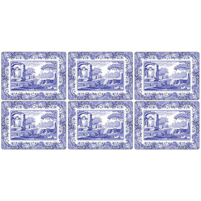 Pimpernel – Blue Italian Set of 6 Cork Backed Placemats 30.5x23cm