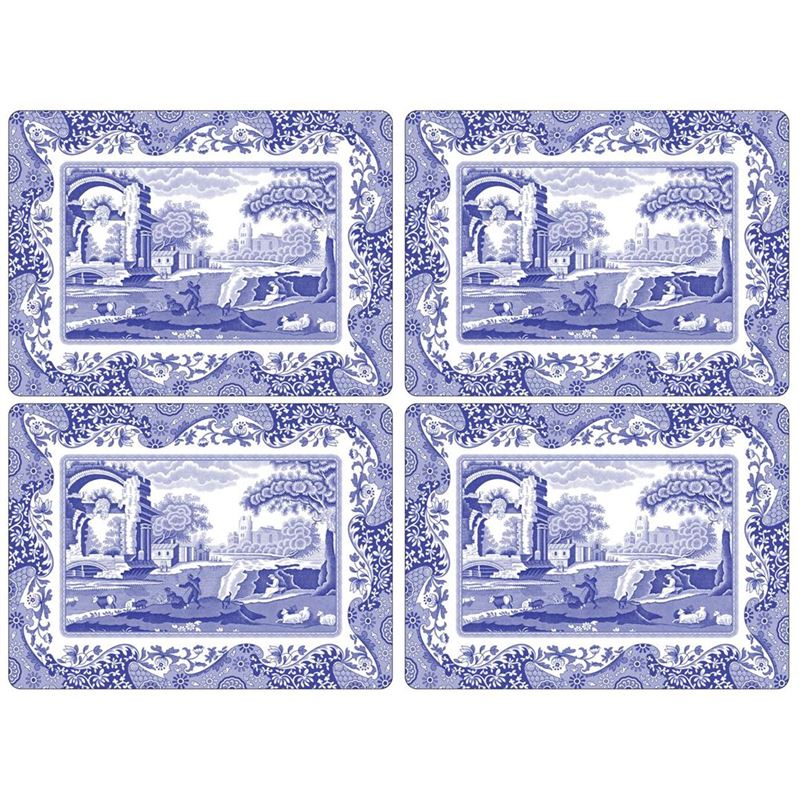 Pimpernel – Blue Italian Set of 4 Large Cork Backed Placemats 40.1x29cm