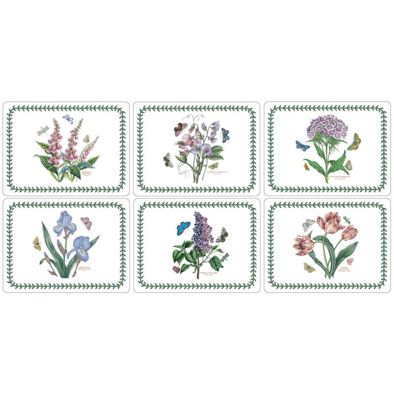 Pimpernel – Portmeirion Botanic Garden Set of 6 Cork Backed Placemats 30.5x23cm