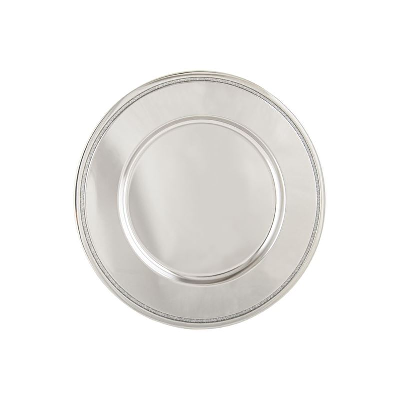 Whitehill – Silver Glitter Charger Plates 31cm