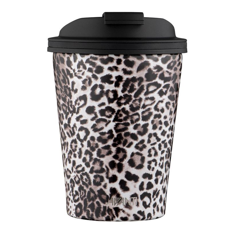 Avanti – GOCUP Double Wall Stainless Steel Coffee Cup 280ml Leopard