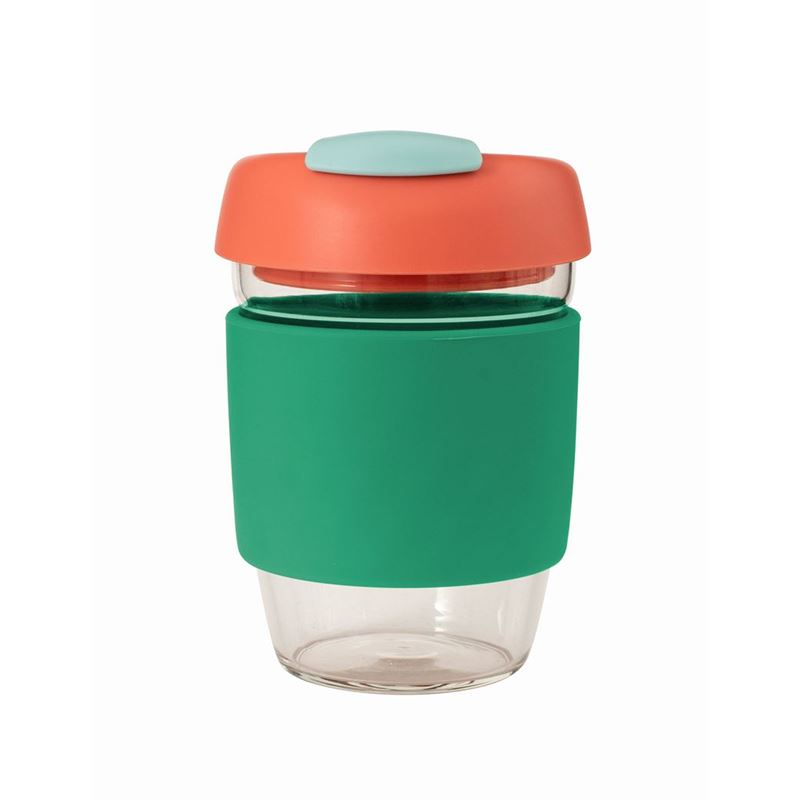 Avanti – GOCUP Glass Coffee Cup 355ml Green Silicone Sleeve