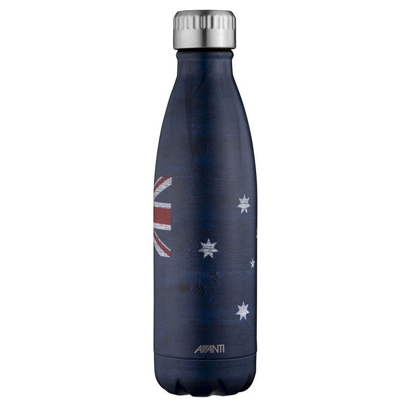 Avanti – Fluid Vacuum Stainless Steel Bottle 500ml Aussie Flag
