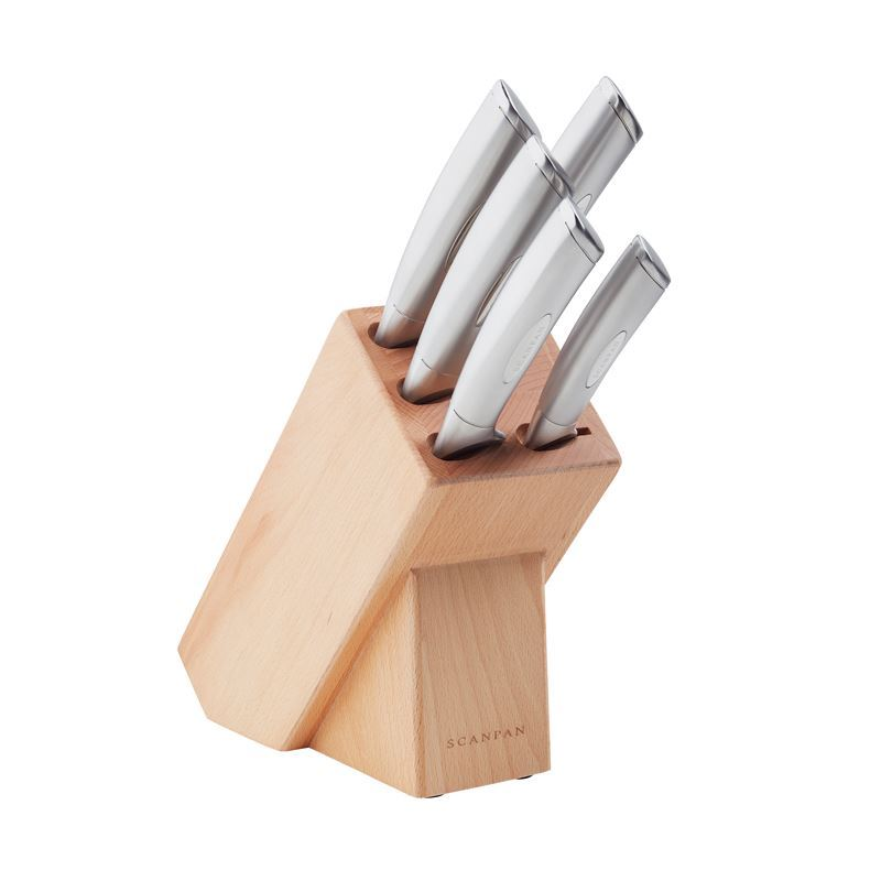 Scanpan Classic Steel – 6 Piece Knife Block Set