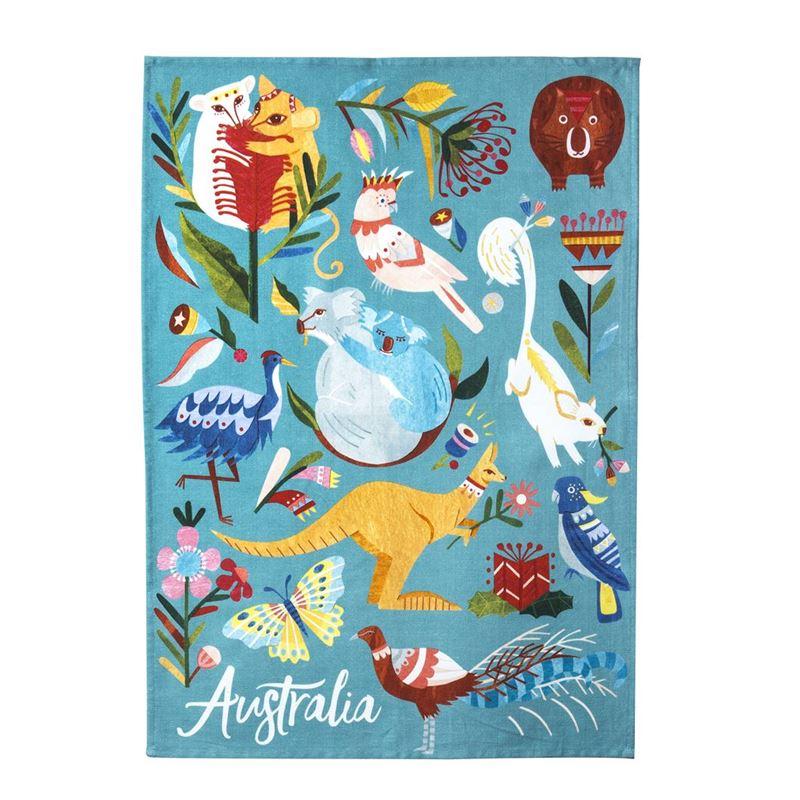 Australiana – Fauna Cotton Tea Towel 50x70cm