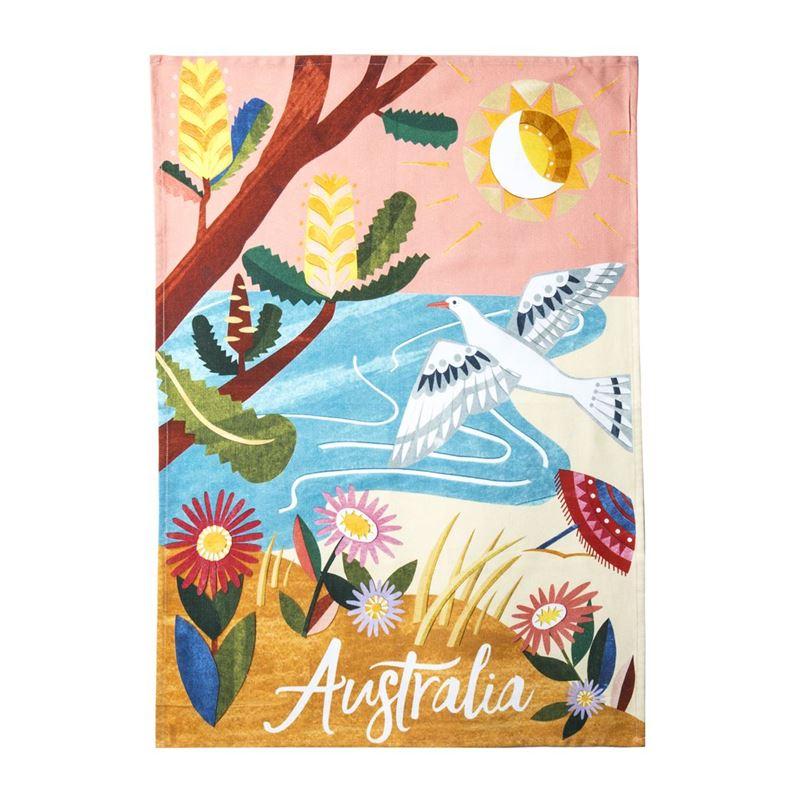 Australiana – Coastal Cotton Tea Towel 50x70cm