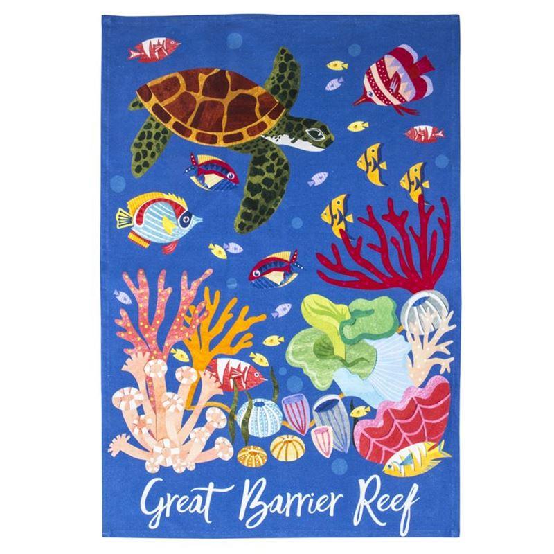 Australiana – Great Barrier Reef Cotton Tea Towel 50x70cm