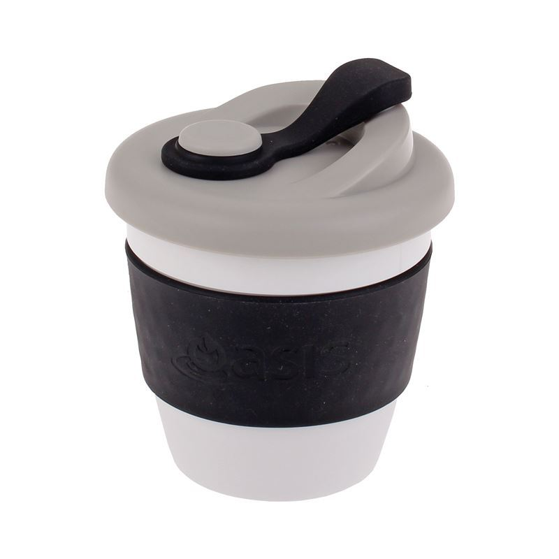 Oasis – Biodegradable Eco Reusable Coffee Cup 227ml Black