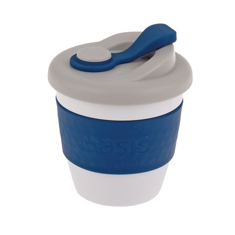 Oasis – Biodegradable Eco Reusable Coffee Cup 227ml Navy