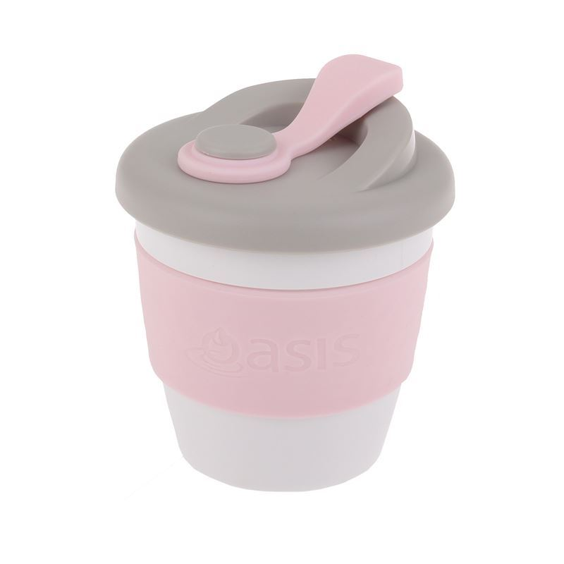 Oasis – Biodegradable Eco Reusable Coffee Cup 227ml Pink