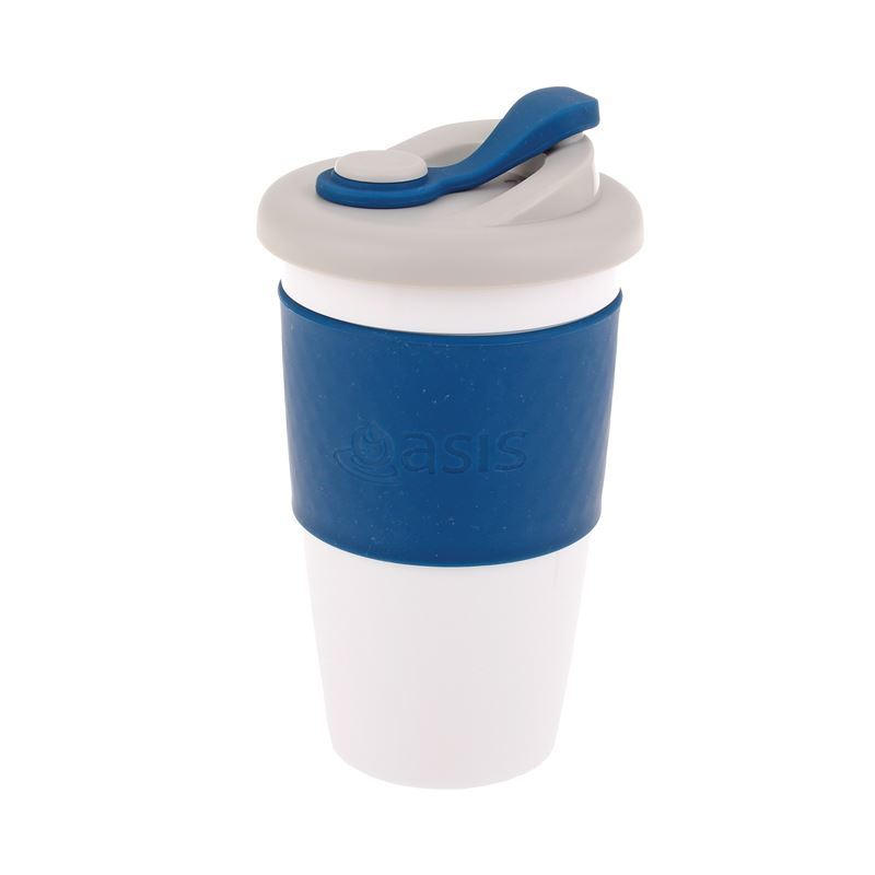 Oasis – Biodegradable Eco Reusable Coffee Cup 454ml Navy