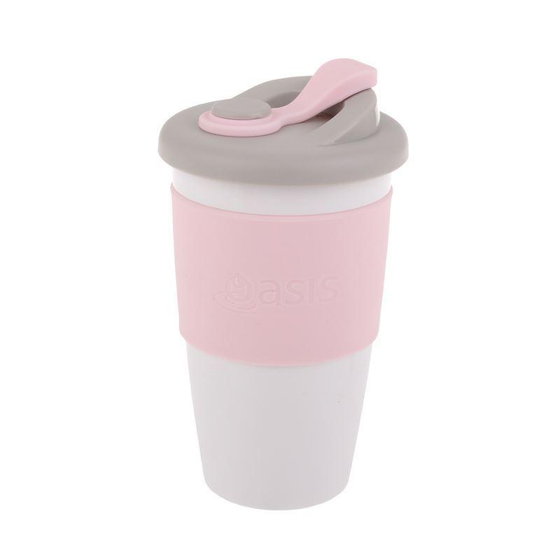 Oasis – Biodegradable Eco Reusable Coffee Cup 454ml Pink
