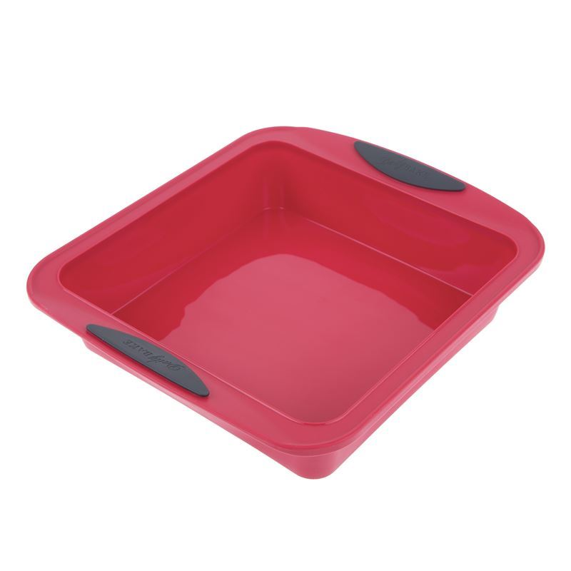 Daily Bake – Silicone Square Cake Pan 20x20x5cm Red