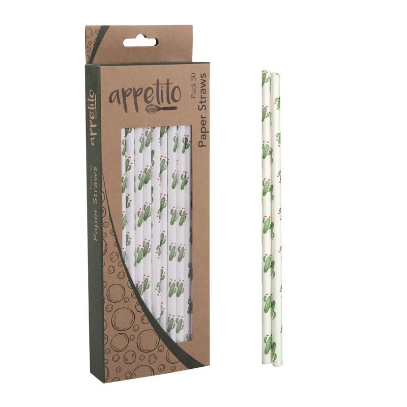 Appetito – Paper Straws Pack of 50 Cactus