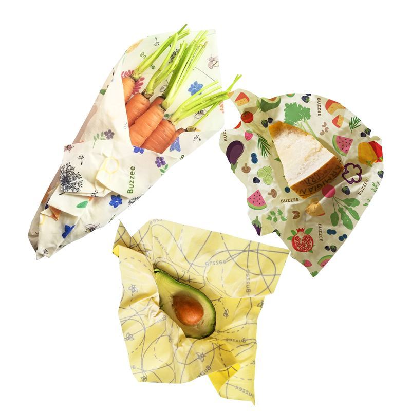 Buzzee – Organic Beeswax Wraps Pack of 3
