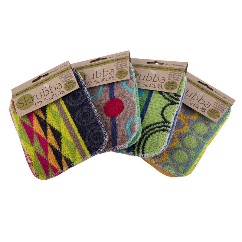 Skrubba to Scrub – Skrubba Twin Pack Original & Sponge Pack 12×16.5cm