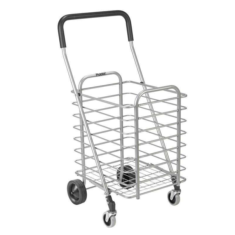 Polder – Superlight Folding Alum Shopping Cart with 4 Wheels