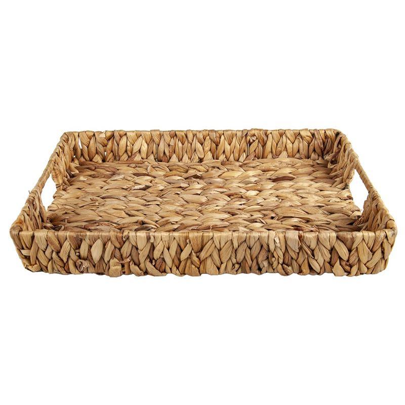 Circleware – Cayo Island Rectangular Sea Grass and Wire Basket 38x28x4.5cm