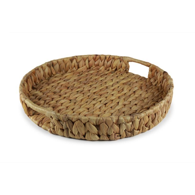 Circleware – Cayo Island Round Sea Grass and Wire Basket 36x5cm